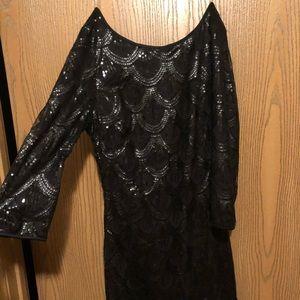 Black tight dress
